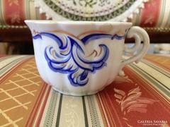 Antik bécsi bieder biedermeier vastagfalú teás csésze