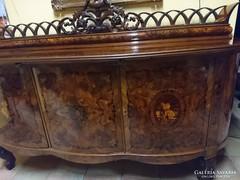 Nagyon szép barokk ebédlő garnitúra TELJESEN FELÚJÍTVA