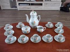 11 személyes Herendi Tulipán mintás kávéskészlet