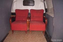 2-darab Art-Decó fotel