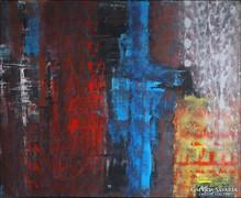 """""""Cseppek""""   hatalmas festmény  80 x 100 cm"""