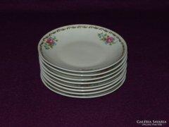 AKCIÓ!!! 8 db 11 cm Jlmenau Henneberg porcelán tányér (v)