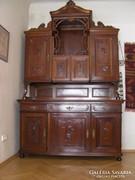 Bécsi barokk tálalószekrény, felújított, hibátlan
