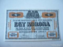 Börtönpénz Ostfffyasszonyfa 1 Korona