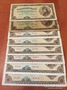 100 millió pengő, 1945, 7 db, vegyes minőség (közte UNC is)