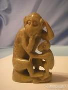 Antik jade majomcsalád ritkaság U11
