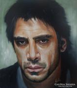 Javier Bardem portré  Festmény