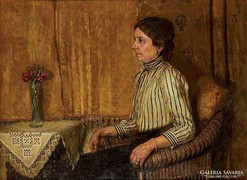Kraul fritz (1862-1935) Nő vázával, becsértéke: 2000-3000€