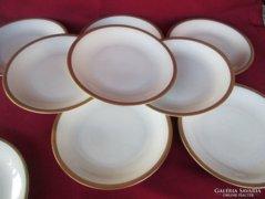 7 db csodás Johann Seltmann Genia süteményes tányér