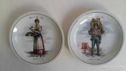 Különleges tányérok a régi Párizs mesterségei képeivel