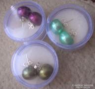 925 ezüst fülbevaló Akoya tenyésztett gyöngy