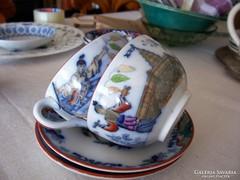 Fajansz teáscsészék, nagy méret /Maestricht/