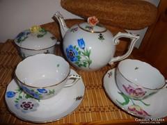 Herendi rózsafogós kétszemélyes teás összeállítás