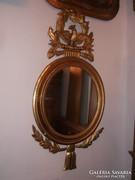 Antik faragott fa tükör laparanyozott,aranyozott empire stil