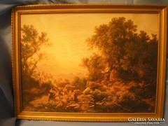 Mitológiai kép aranyszínű keretben U6