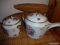 Hüttl Tivadar teás kiöntő és cukortartó