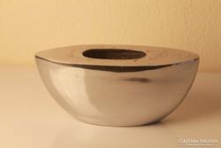 Retro alumínium váza (ritka forma!)