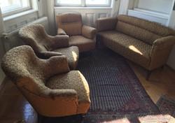 Antik Art Deco három fotel & kanapé garnitúra