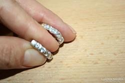 Francia kapcsos ezüst fülbevaló 925