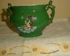 Antik puttós édességkínáló  porcelán