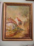Faluvég festmény