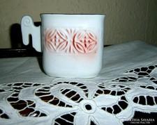 Ritka Hollóházi porcelán  tartó -stilizált kosfej fogóval