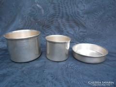 158 gramm ezüst tálkák,kaspó.Dianás 800-as ezüst.