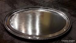 Antik ezüst tálca, jelzett