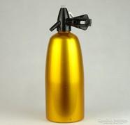 0K602 Régi retro alumínium szódásszifon szódásüveg