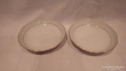 2 db Herendi Fehér jelzéssel porcelán tálka