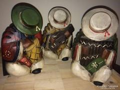 Fa Mexikói indián zenészek szobrok szobor