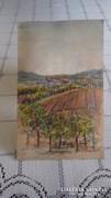Jelzett kis akvarell tájkép festmény Glatz jelzéssel