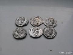 Római ezüst dénárok