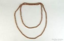 0K523 Régi púder színű női gyöngysor 76 cm