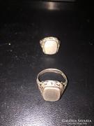 2db ezüst pecsétgyűrű eladó!Ara:4500.-