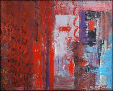 Válaszvonal  hatalmas 80 x 100 cm festmény