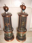 Antik bányász lámpa italos flaska eladó 2 db.
