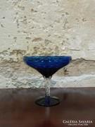 Kék színű üveg kristály asztalközép / kínáló