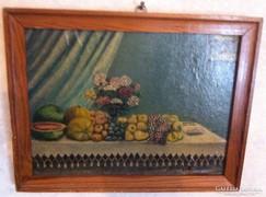 Molnár Z János jelzéssel: Asztali csendélet, olaj, vászon