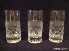 3 db komoly kristály pohár , nagy méret , fél kilósak