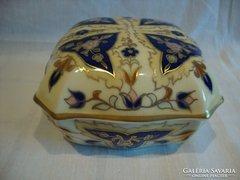Gyűjteményes Zsolnay porcelán bonbonier , ritka