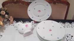 Herendi tányérok és szószos tál