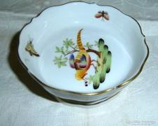 Herendi fácán mintás talpas porcelán tartó