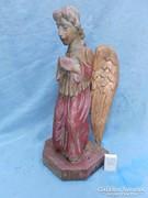 19.századi angyal faszobor.45cm-es.Magyar szobrász.