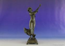 0H544 Antik Spanyol táncosnő ón szobor