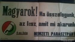 Politikai plakát 1948