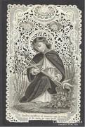 Álomszép régi finom csipke szentkép 1902