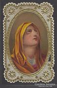 Álomszép régi finom csipke szentkép dombornyomott aranyozott