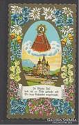 Régi litho szentkép dusan aranyozott St. Mária Zell