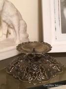 Hildesheimer ezüst 835 Rozsás gyertyatartó,ékszeres talpas